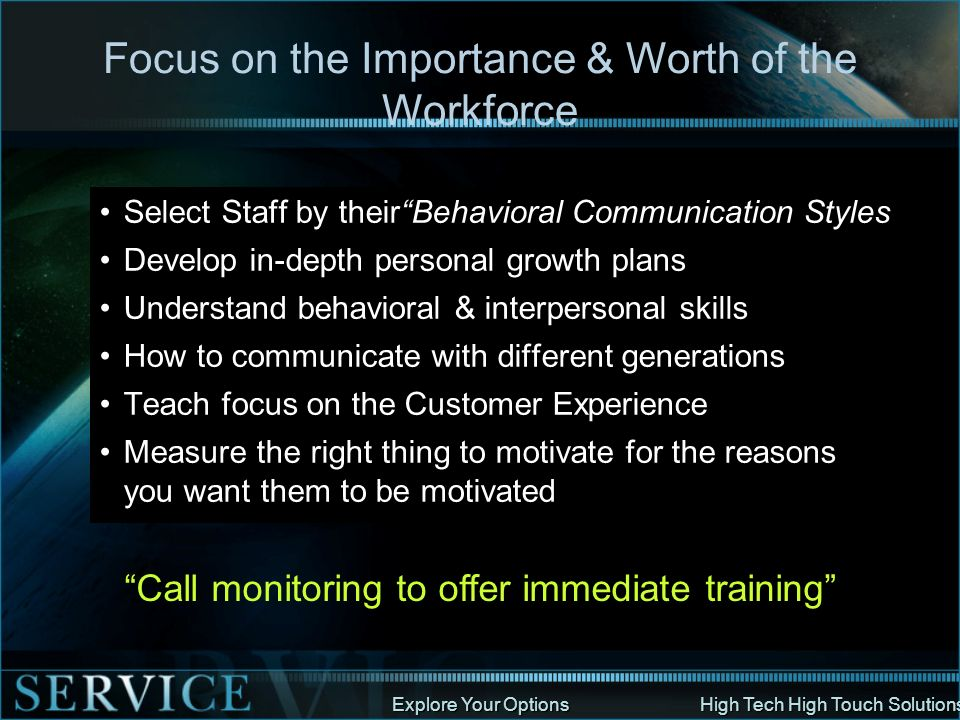 Focus on the Importance & Worth of the Workforce
