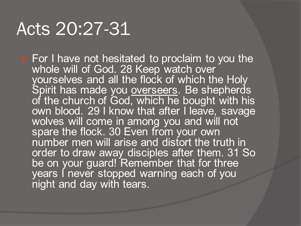 Acts 20:27-31