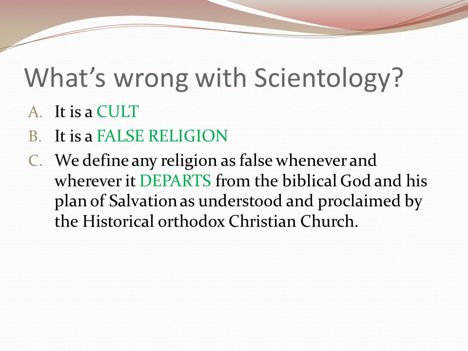 What's wrong with Scientology