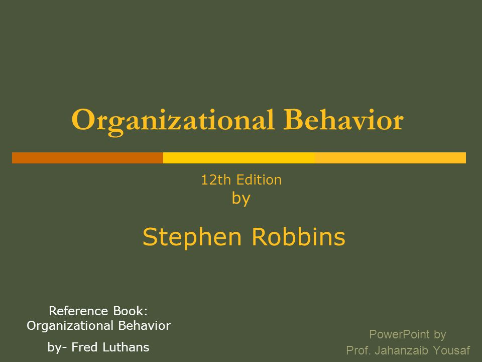 history of organizational behaviour