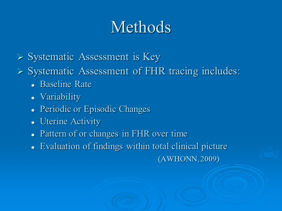 Methods Systematic Assessment is Key