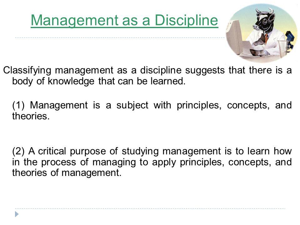 Management as a Discipline