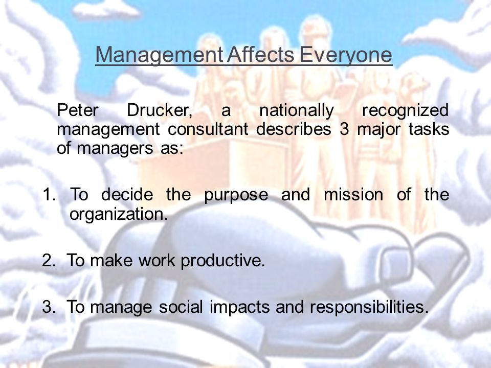 Management Affects Everyone