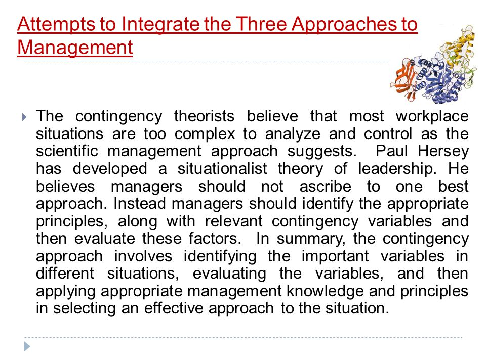 Attempts to Integrate the Three Approaches to Management