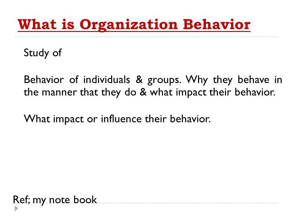 What is Organization Behavior