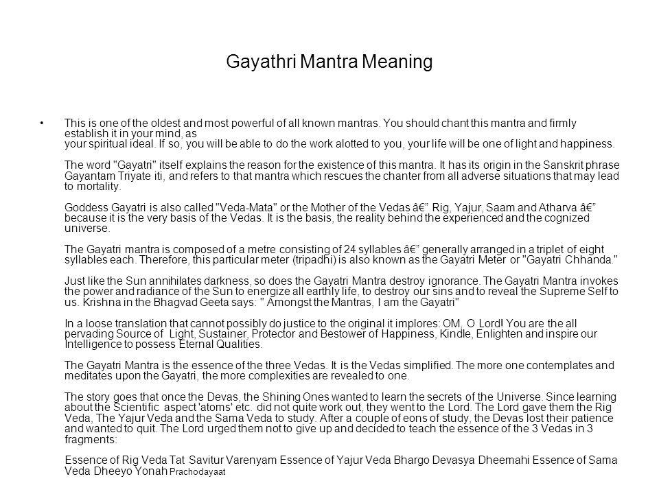Gayathri Mantra Meaning