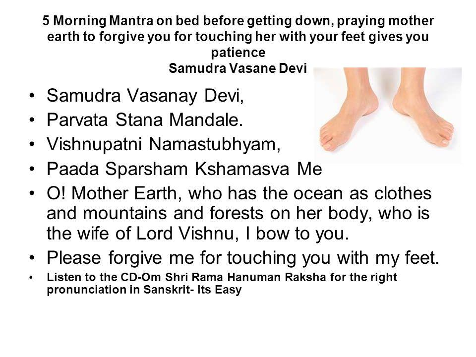 Vishnupatni Namastubhyam, Paada Sparsham Kshamasva Me