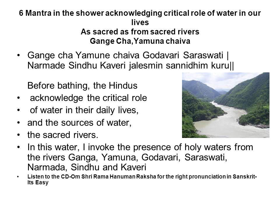 acknowledge the critical role of water in their daily lives,