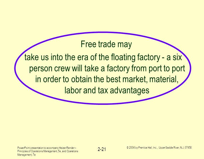 Free trade may