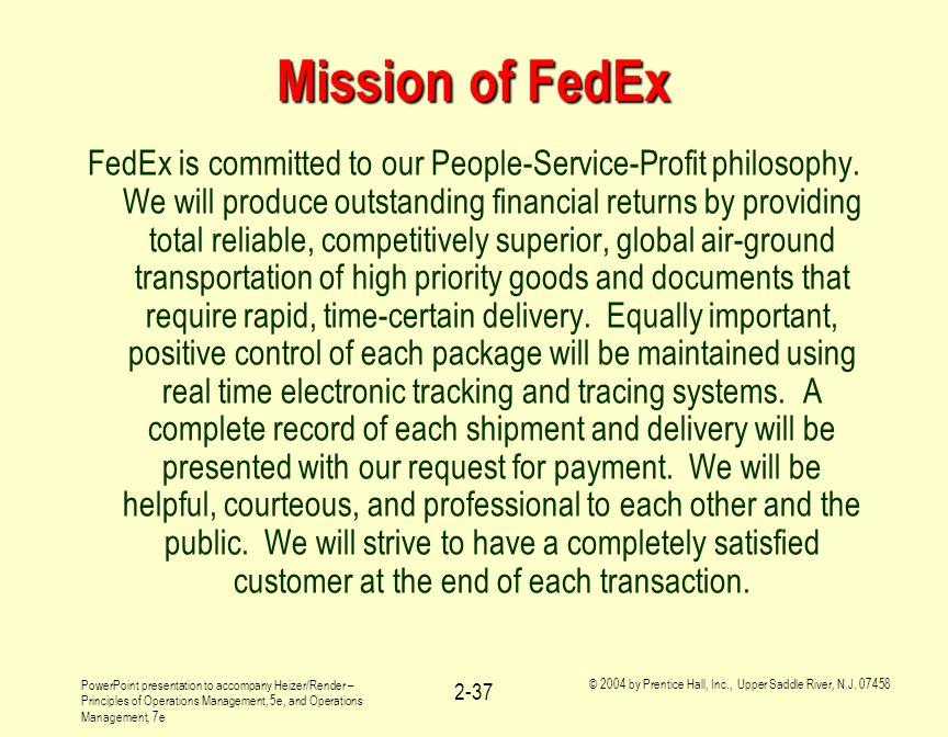 Mission of FedEx