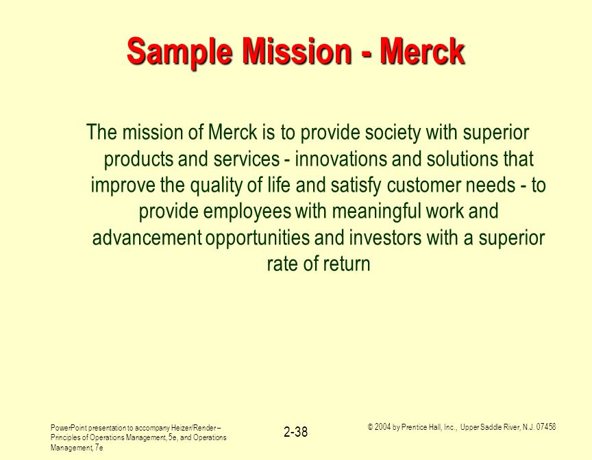 Sample Mission - Merck