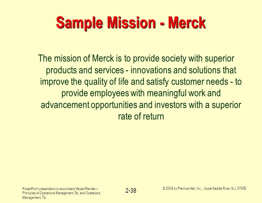Sample Mission - Merck