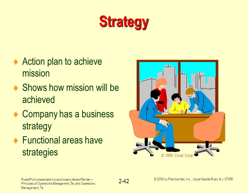 Strategy Action plan to achieve mission