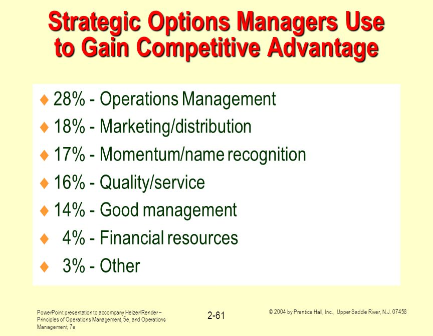 Strategic Options Managers Use to Gain Competitive Advantage