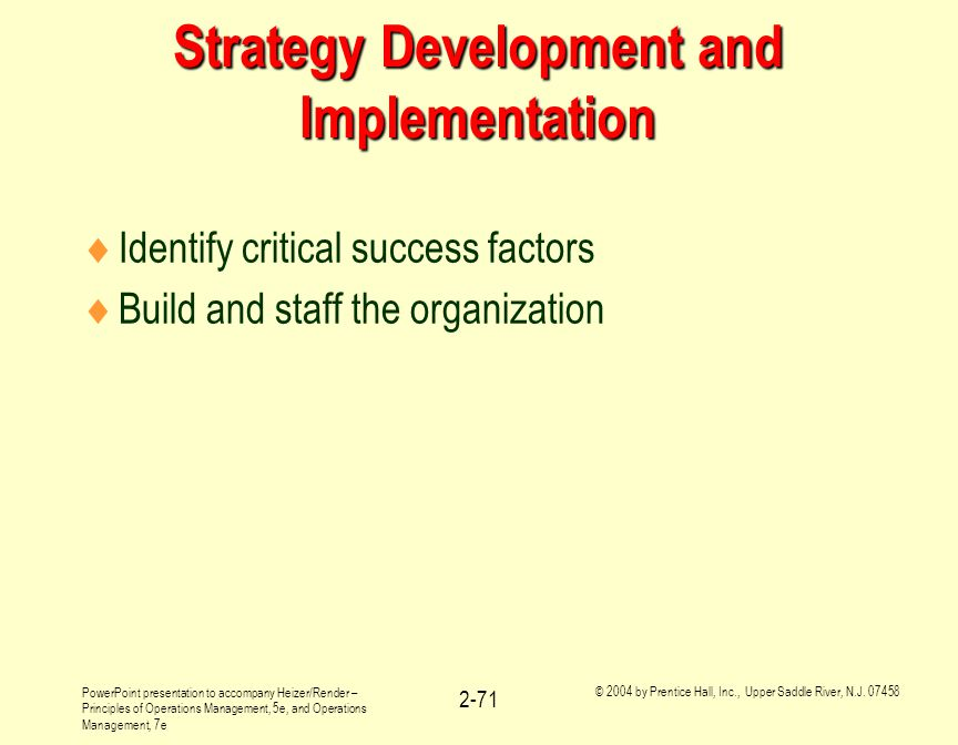developing and implementing successful strategies The most successful organizations whether national associations committee should develop the detailed objectives, strategies, and tasks that will help to accomplish the goals how to develop & implement a strategic plan.