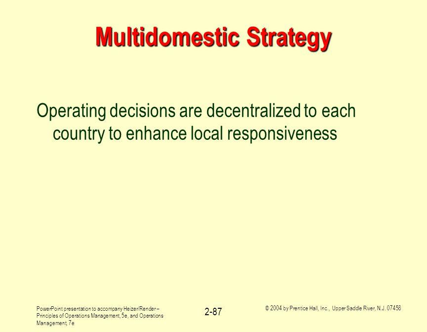 Multidomestic Strategy