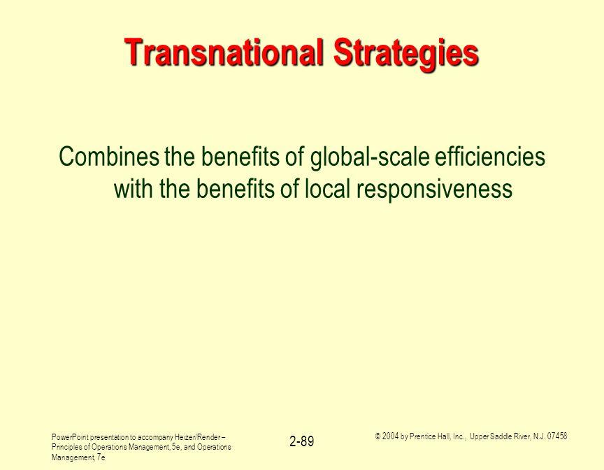 Transnational Strategies