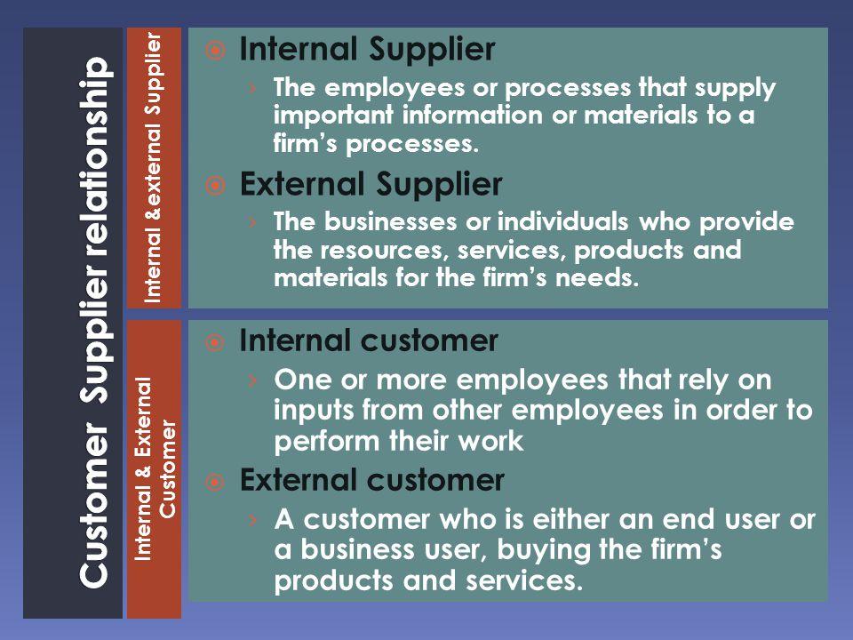 Customer Supplier relationship