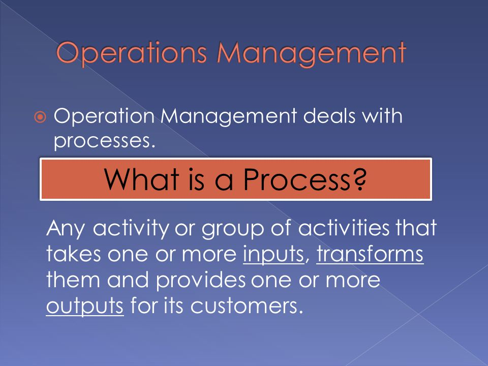describe 4 activities performed by operations managers Describe the planning and control functions performed by managers question: managers of most organizations continually plan for the future, and after the plan is implemented, managers assess whether they achieved their goals.