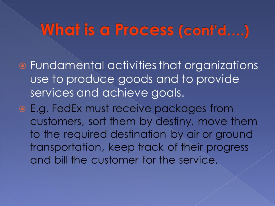 What is a Process (cont'd….)