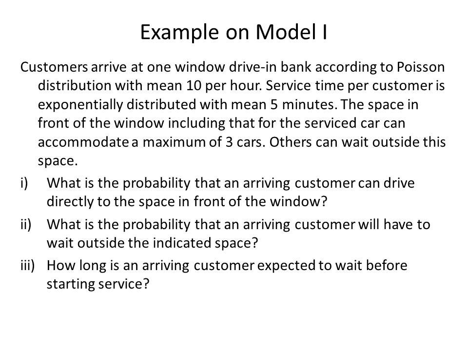 Example on Model I