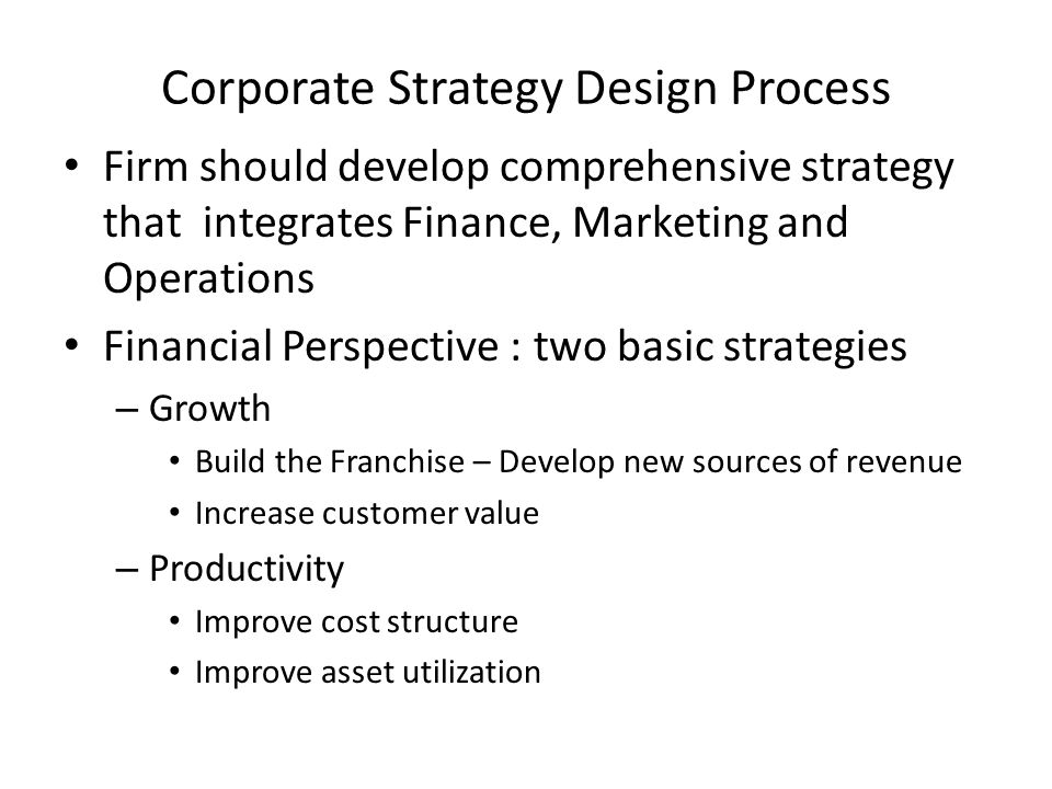 Corporate Strategy Design Process