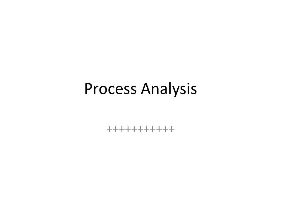 Process Analysis +++++++++++