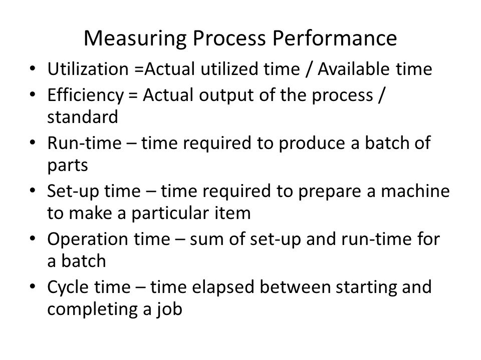 Measuring Process Performance