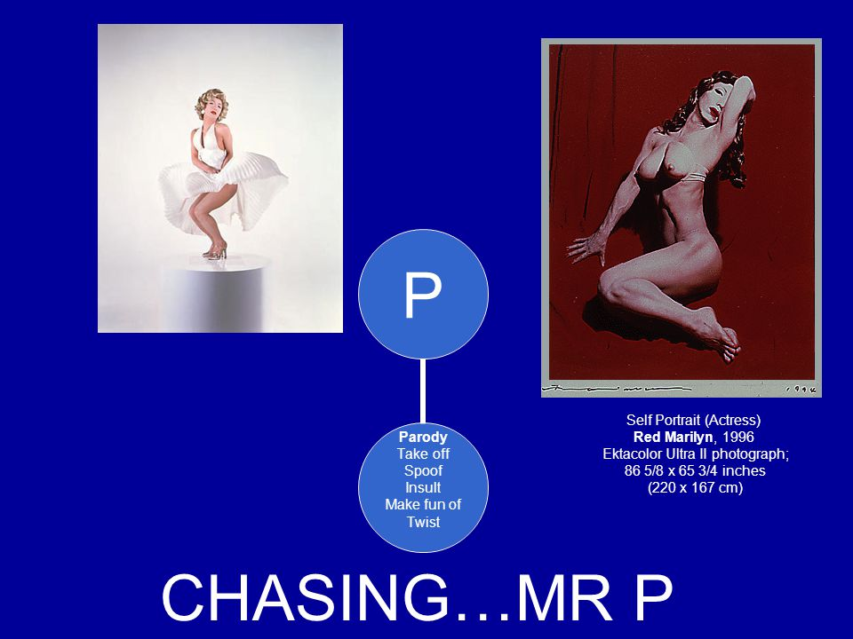 CHASING…MR P Self Portrait (Actress) Red Marilyn, 1996