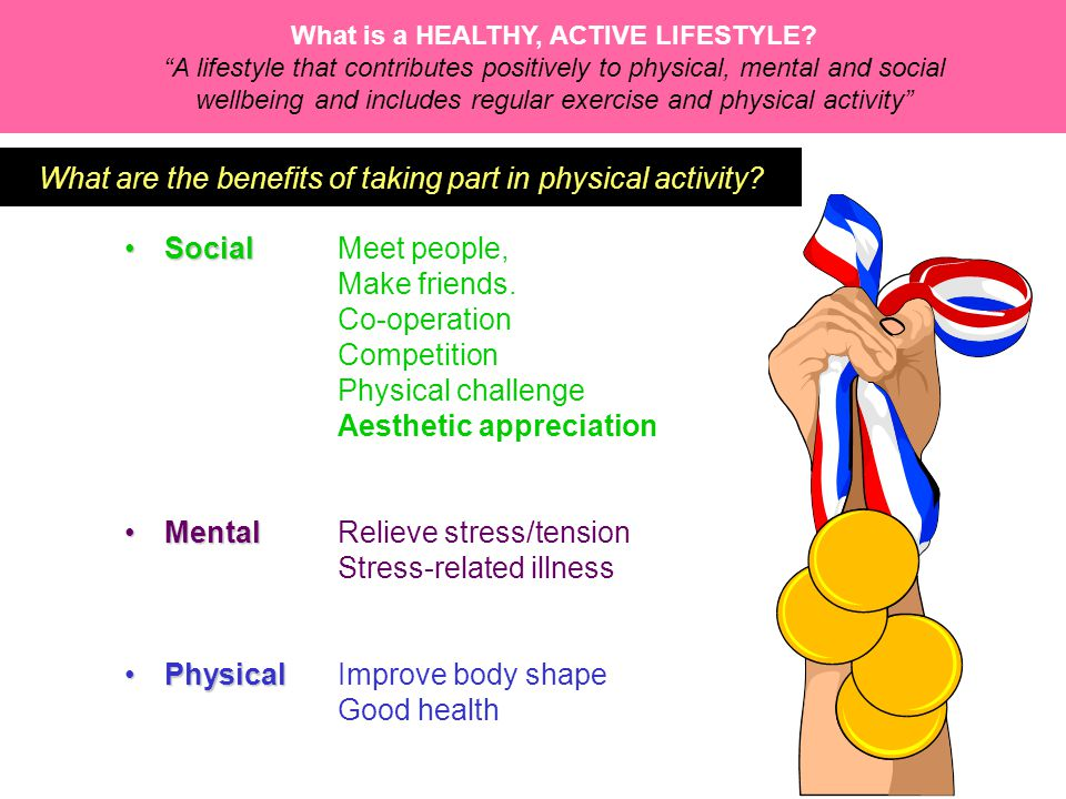 What are the benefits of taking part in physical activity