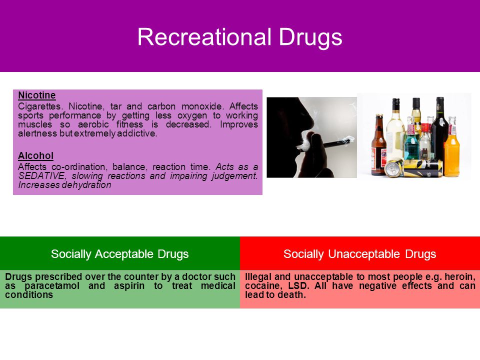 Recreational Drugs Socially Acceptable Drugs