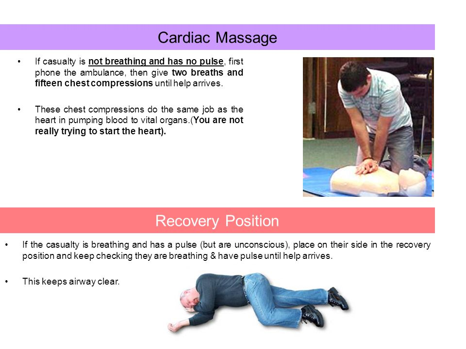Cardiac Massage Recovery Position