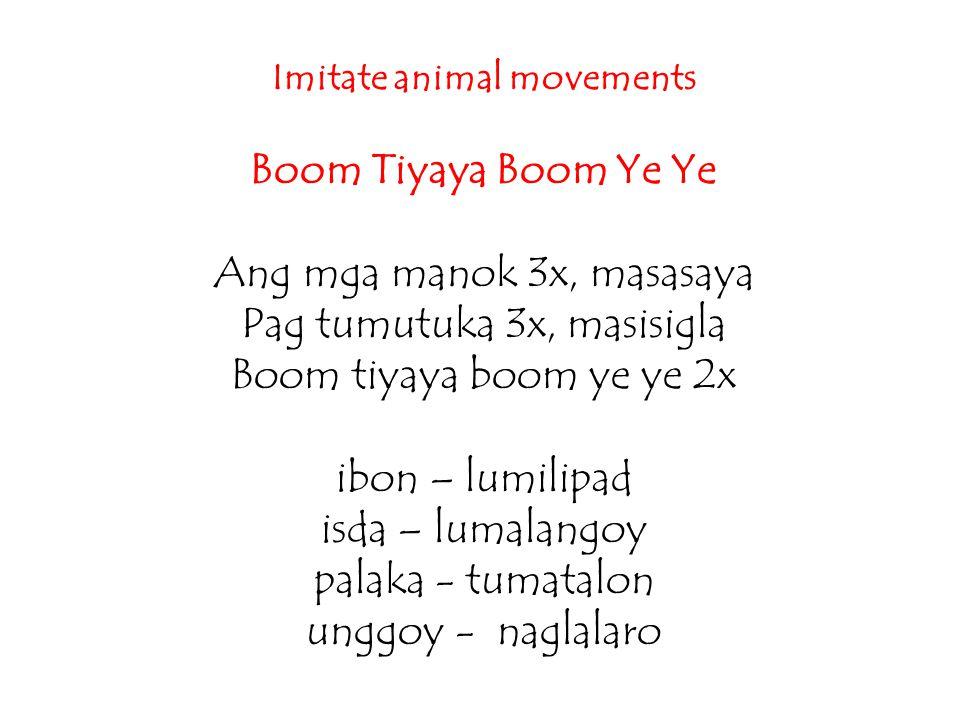 Imitate animal movements