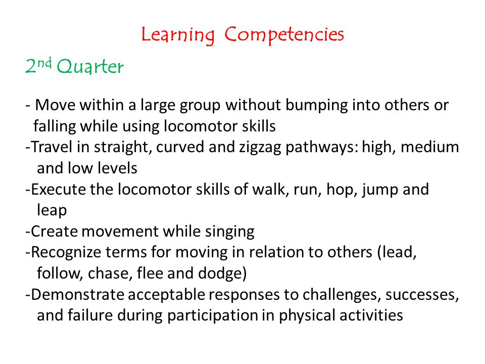 Learning Competencies