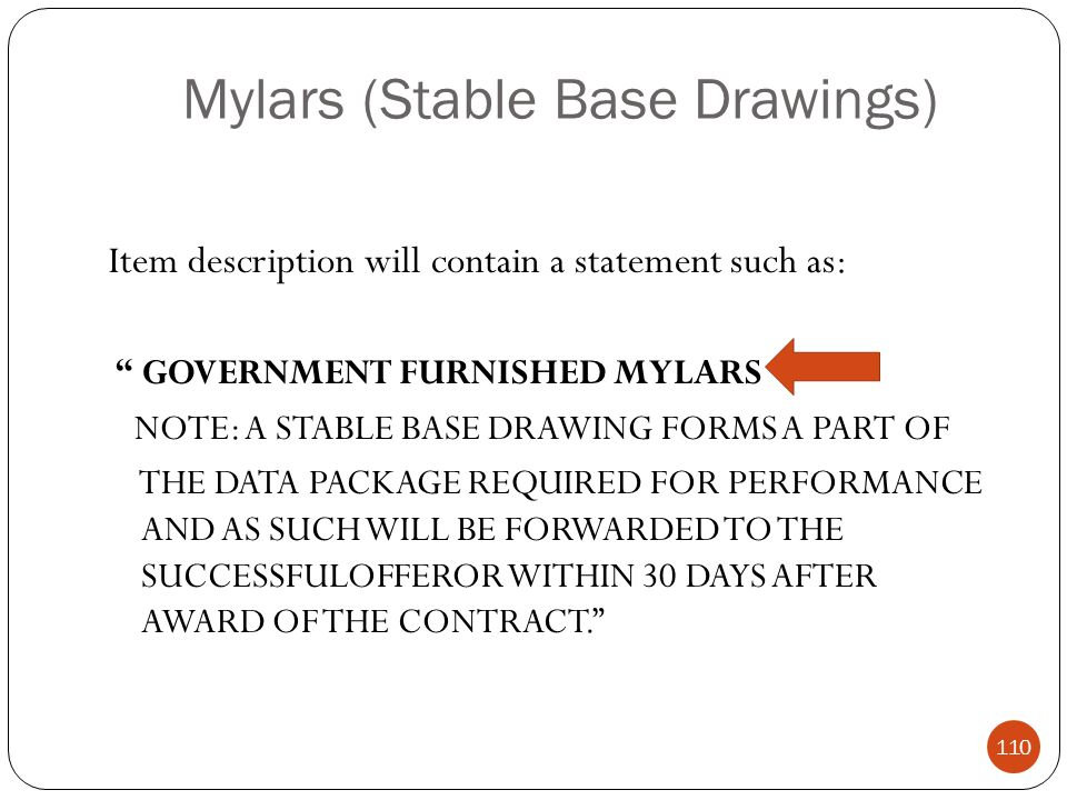 Mylars (Stable Base Drawings)