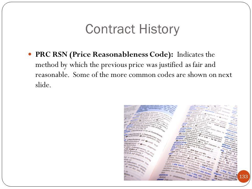 Contract History