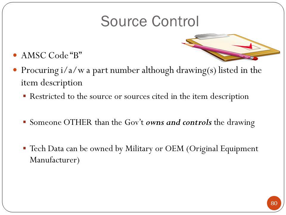 Source Control AMSC Code B