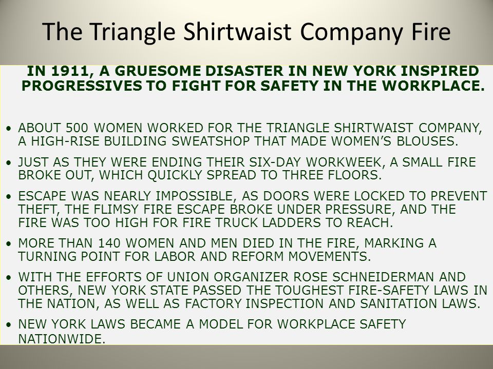 The Triangle Shirtwaist Company Fire