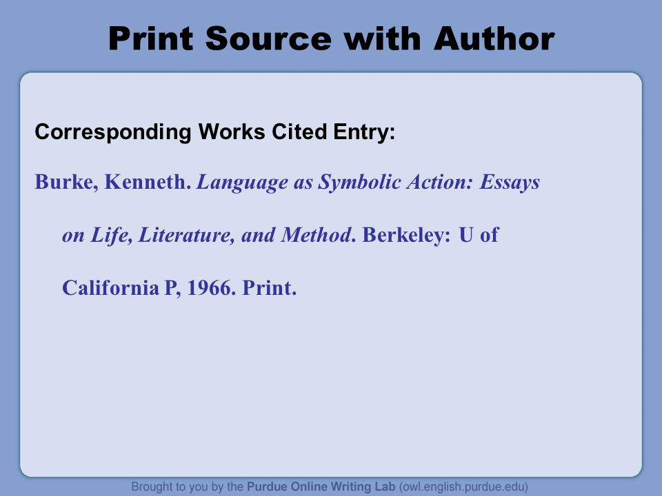 Print Source with Author