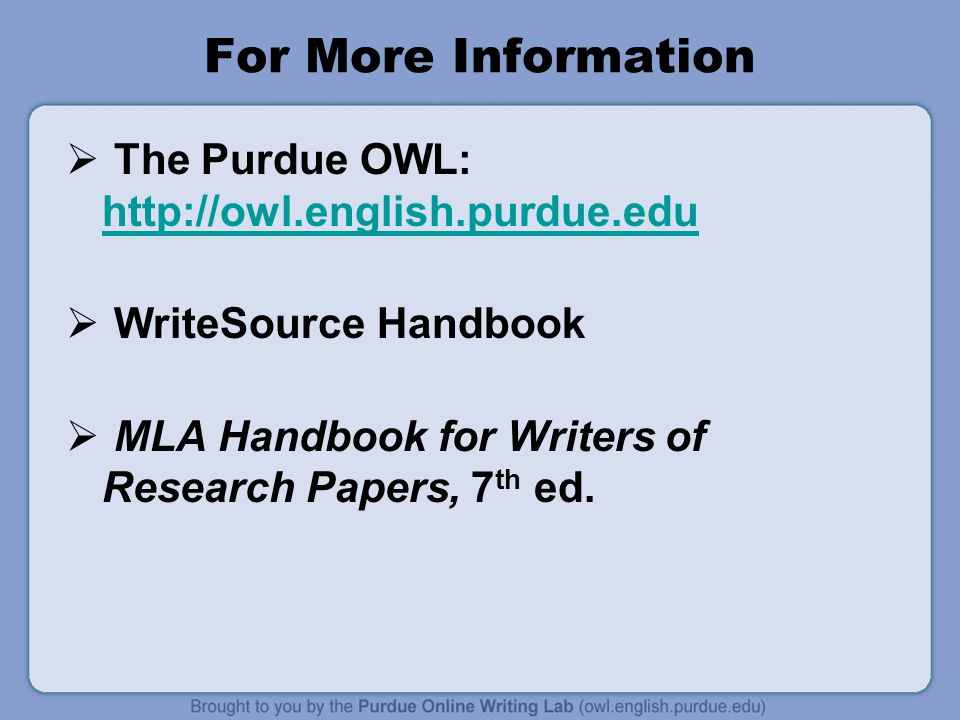 mla handbook for writers of research papers 6th edition Mla citation style mla handbook for writers of research papers, 7th edition follow these color codes: author(s) title of book or website title of article title of.