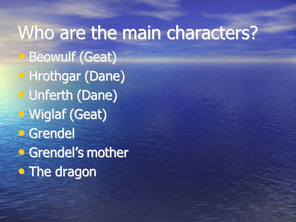Who are the main characters