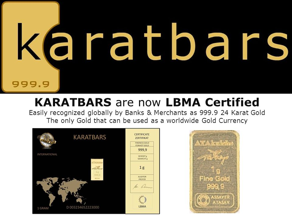 KARATBARS are now LBMA Certified