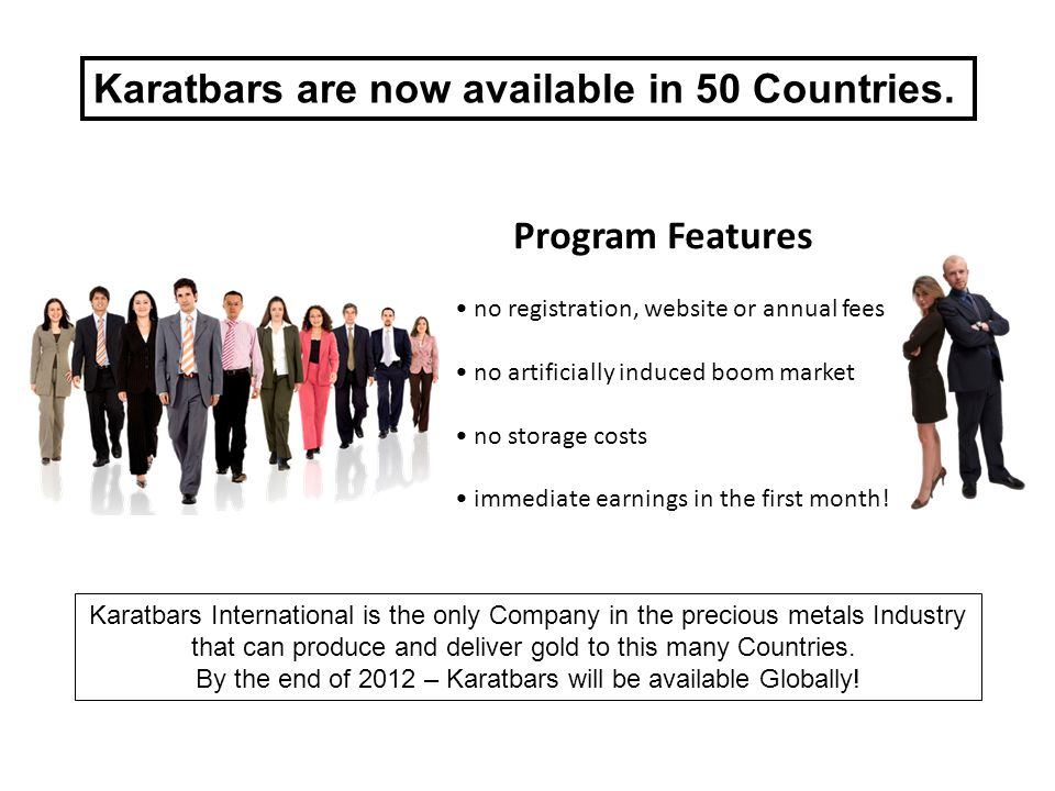 Karatbars are now available in 50 Countries.