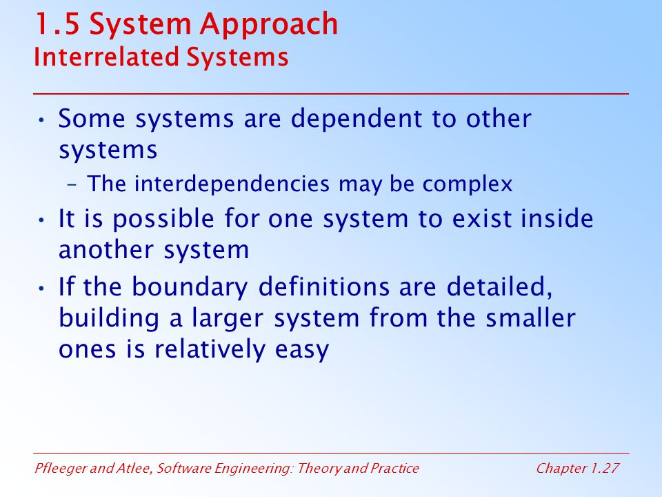 1.5 System Approach Interrelated Systems