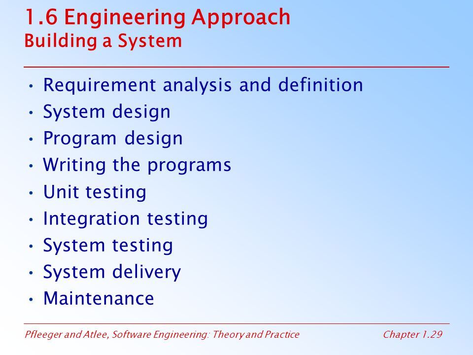 1.6 Engineering Approach Building a System