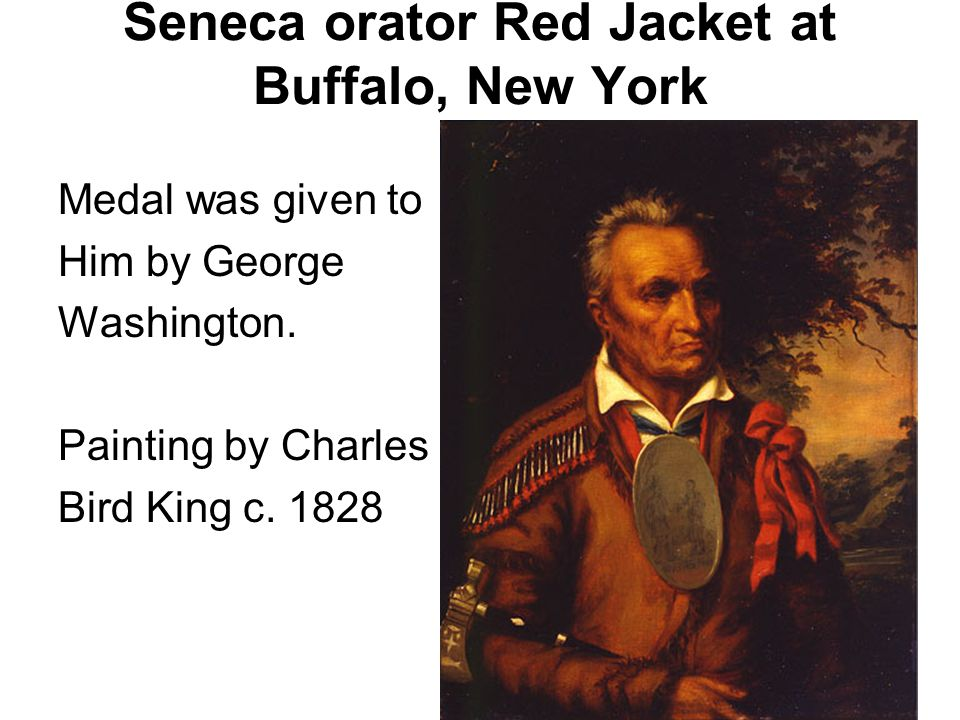 Seneca orator Red Jacket at Buffalo, New York