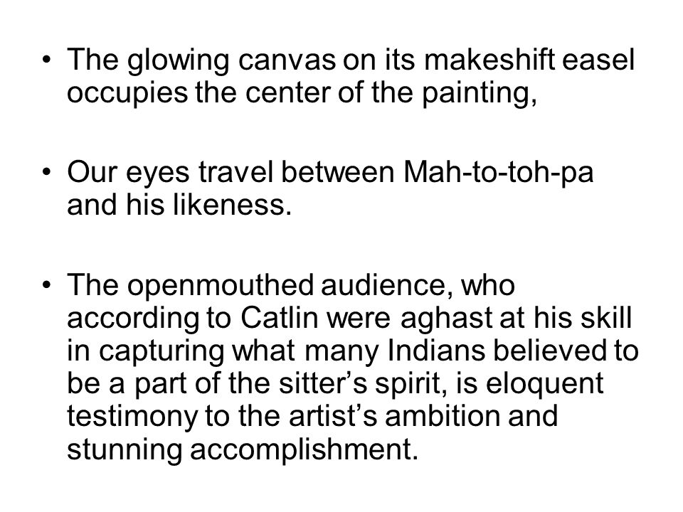 The glowing canvas on its makeshift easel occupies the center of the painting,