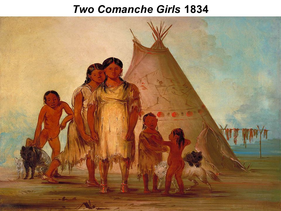 Two Comanche Girls 1834