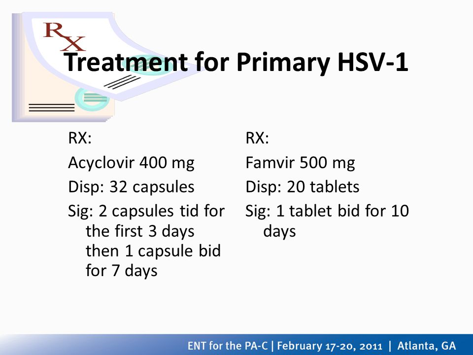 Treatment for Primary HSV-1