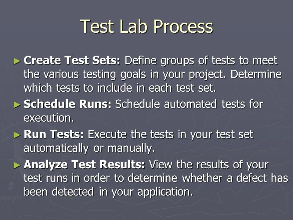 Test Lab Process